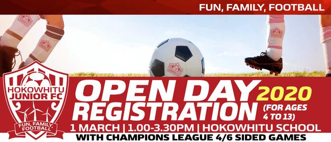 Hokowhitu Junior Football Club - Open Day 2020