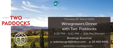 Two Paddocks Winegrowers Dinner