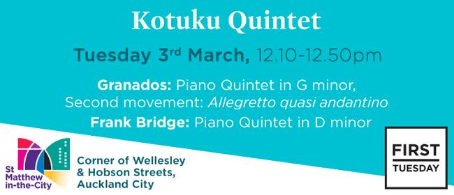 First Tuesday Concert - Kotuku Quintet