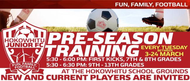 Hokowhitu Junior Football Club - Pre-Season Training