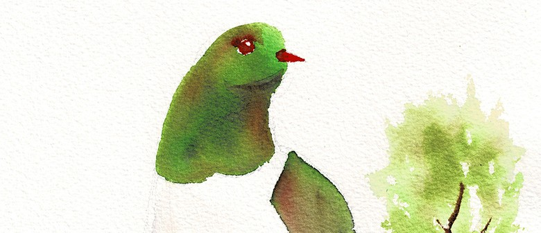 Watercolour & Wine - Kereru - Paintvine