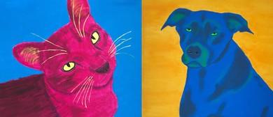 Paint & Drink - Paint Your Pet Pop Art Style