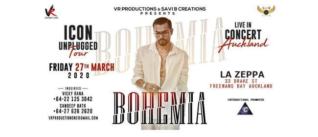 Bohemia Live in Auckland: POSTPONED