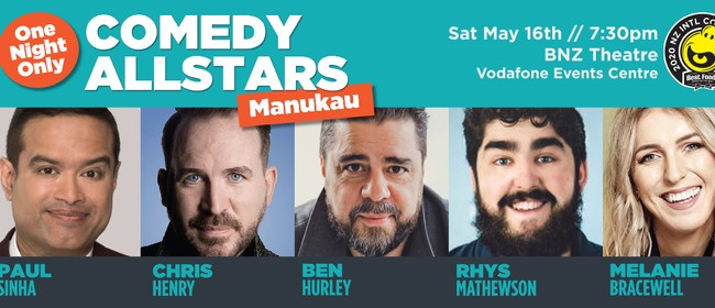 Comedy All-Stars in Manukau: CANCELLED