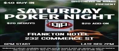 Saturday Texas Holdem Poker Game