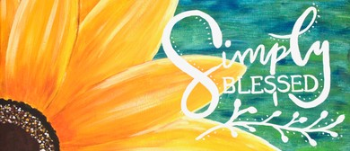 Paint Your Own Simply Blessed with Heart for Art NZ