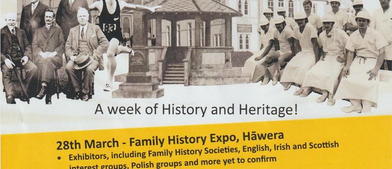 South Taranaki Heritage and Family History Week