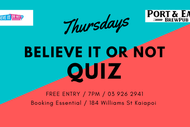 Believe It or Not Quiz