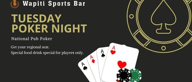 Wapiti Sports Bar Poker Night