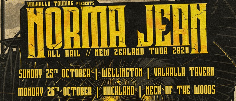 Norma Jean - All Hail - Auckland: CANCELLED