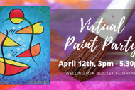 Virtual Paint Party - Wellington Bucket Fountain