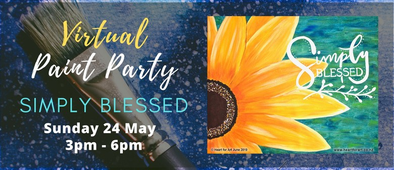 Virtual Paint Party - Paint your own Simply Blessed