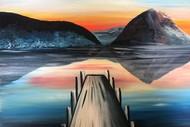 Paint and Wine Night - The Wharf Sunset - Paintvine