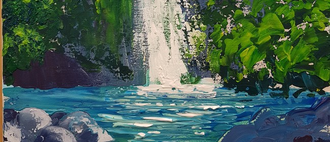 Acrylic Painting - Palette Knife Workshop - Waterfall