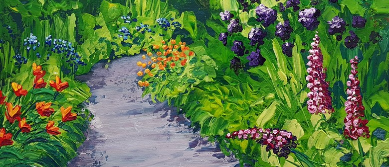 Acrylic Painting - Palette Knife Workshop - Colourful Garden