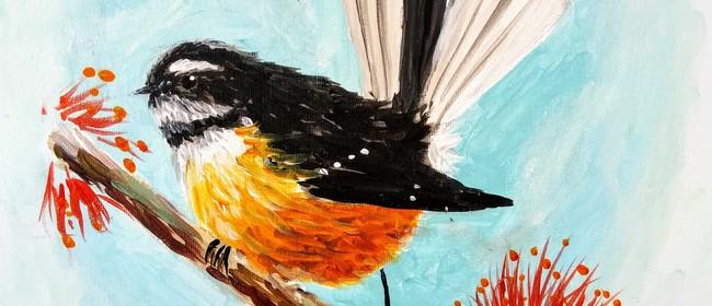 Paint and Wine Night - Piwakawaka - Paintvine