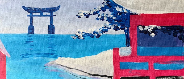 Paint and Wine Night - Snowy Japan - Paintvine