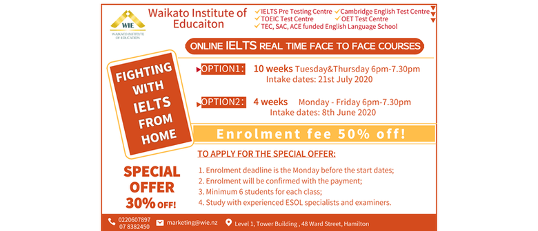 Online Real Time Evening IELTS Preparation Course