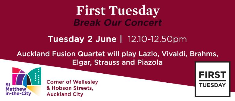 First Tuesday Concert - Auckland Fusion Quartet