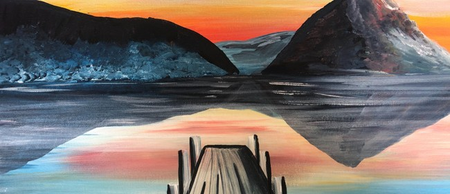 Paint and Wine Night - Sunset at the Wharf - Paintvine