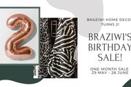Braziwi Birthday Sale!