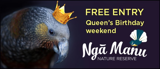 Free Entry to Nga Manu for Queen's Birthday Weekend
