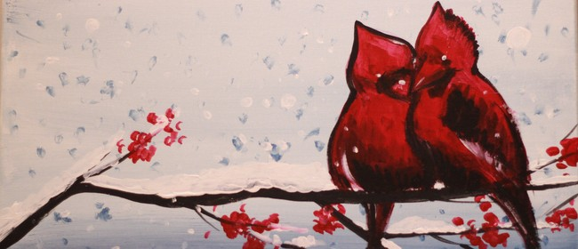 Paint & Chill Night - Cardinal Birds in Winter