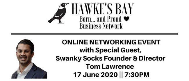 Free online networking event with special guest Tom Lawrence