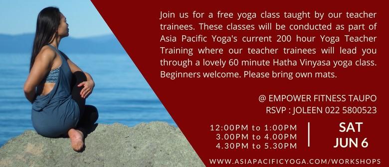 Taupo Community Yoga Classes