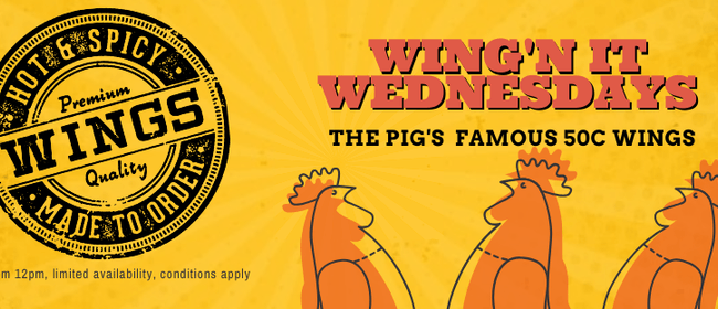 The Pig's Wing'n it Wednesday!