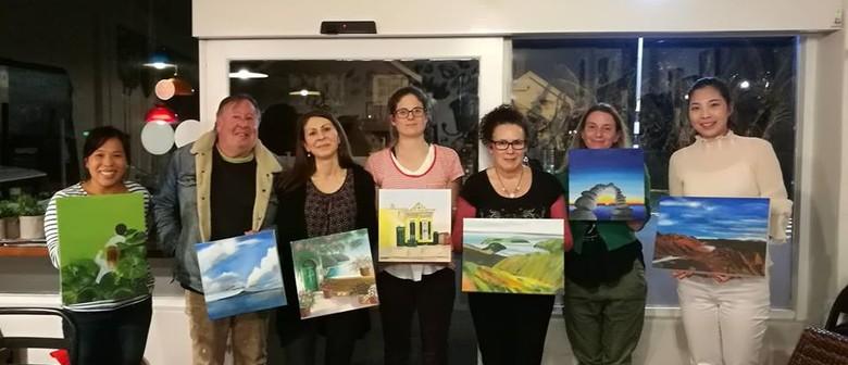 Beginners Art Class Using Acrylics