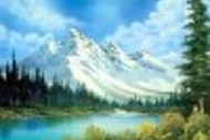 Wine and Paint Party - Bob Ross Painting