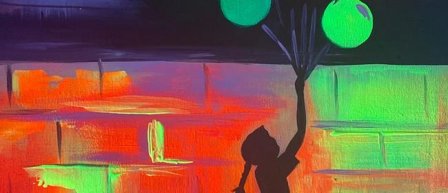 Glow in the Dark Paint Night - Glimmering Banks - Paintvine