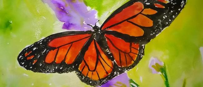 Watercolour & Wine Night - Monarch Butterfly