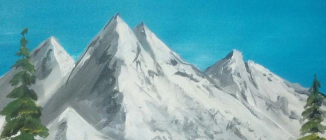 Paint and Wine Night - B Ross Snowy Mountain