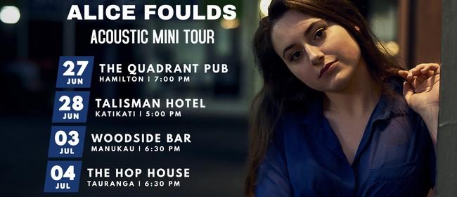 Alice Foulds Acoustic Mini Tour