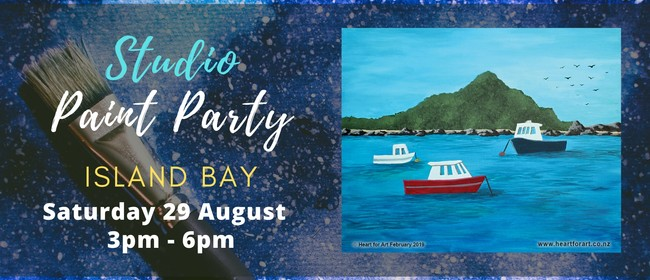 Learn to Paint Your Own Island Bay with Heart for Art NZ