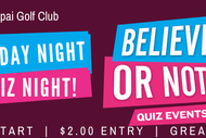 Quiz Night - Believe It Or Not!
