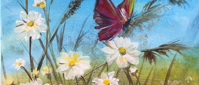 Paint & Chill Saturday Afternoon - Daisies & Butterfly