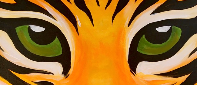 Paint and Wine Night - Tiger