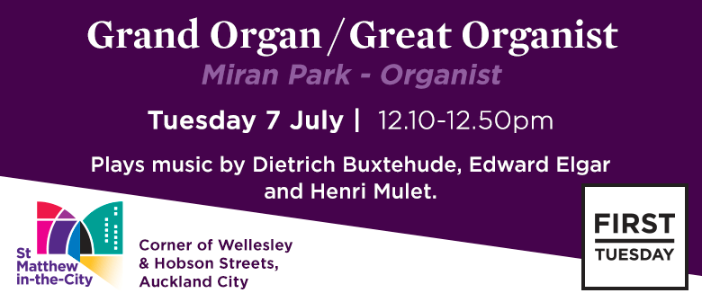 First Tuesday Concert – Miran Park - Organ