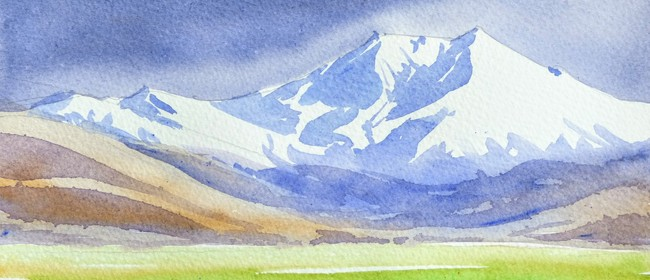 July School Holiday Art Classes - Storm over the Mountains