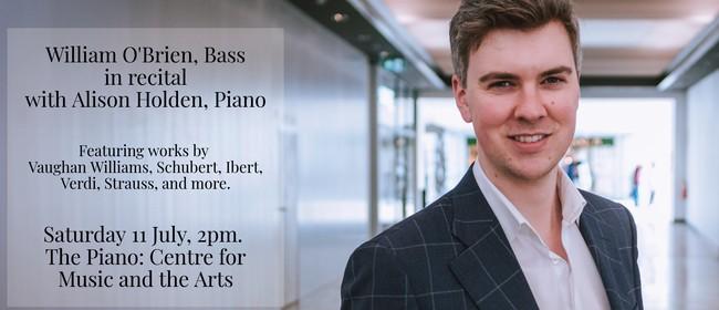 William O'Brien, Bass, in recital with Alison Holden, Piano