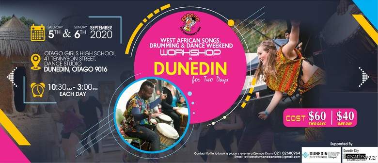West African Songs, Drumming and Dance Workshop - Two Days