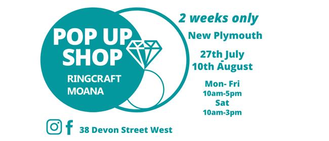 Pop Up Shop Ringcraft Moana Jewellers