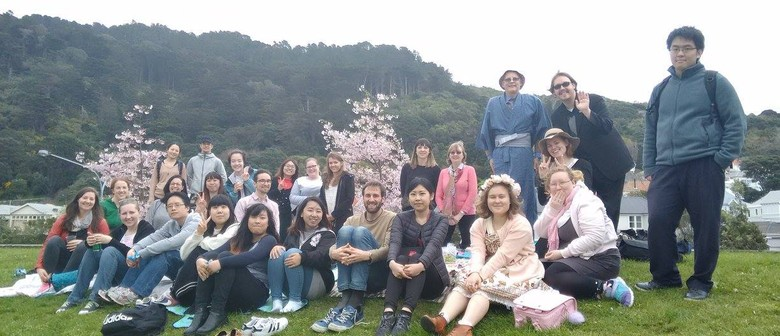 Spring Picnic Under the Cherry Blossoms
