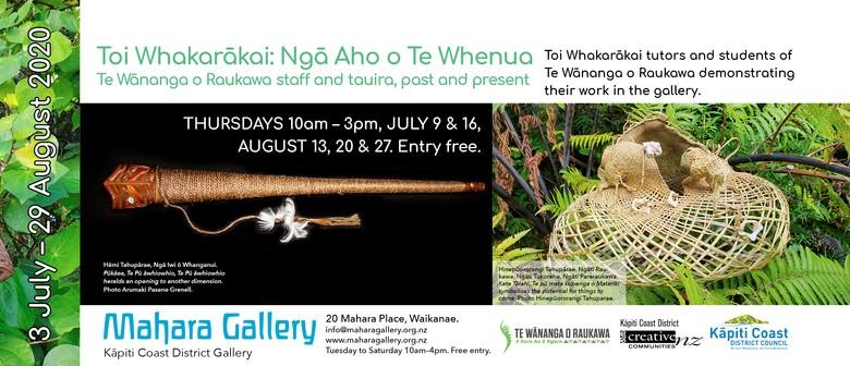 Toi Whakarākai: Ngā Aho o Te Whenua Gallery Demonstration