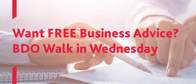 Walk In Wednesday - Complimentary Business Advice