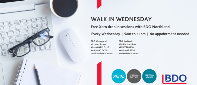 Walk In Wednesday - Xero Support and Advice Drop In