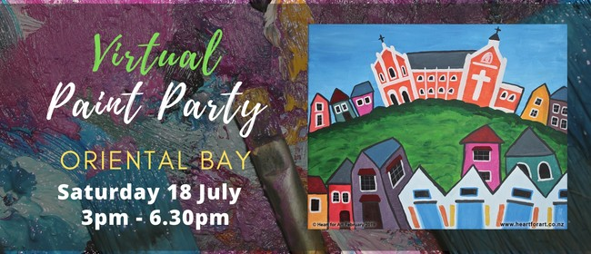 Paint Your Own Oriental Bay With Heart For Art NZ